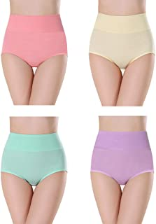 x-world 下着 女性 ショーツ レディース 綿100% ハイウエスト 高通気性と伸縮性 女性美形ショーツ