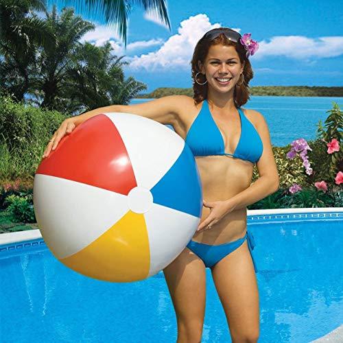 Swimline 8-Pack Inflatable 36-Inch Classic Rainbow Giant Beach Balls | 8 x 90036