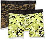 Under Armour Men's Tech 6-inch Novelty Boxerjock 2-Pack , Green Citrine (394)/Black , X-Large