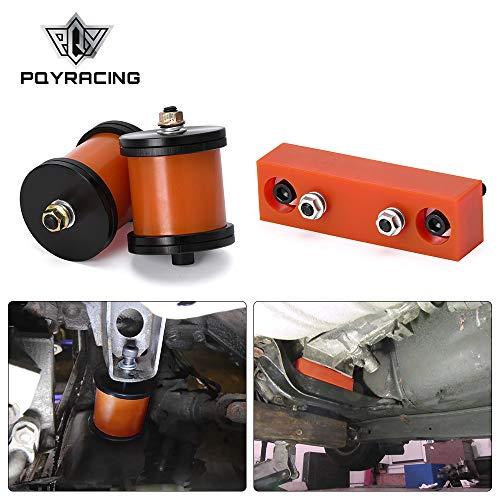 PQYRACING PQY Motor Engine MOUNTS & Tranmission Mounts Set SR20DET KA24 Compatible with 89-98 Nissan 240SX S13 S14
