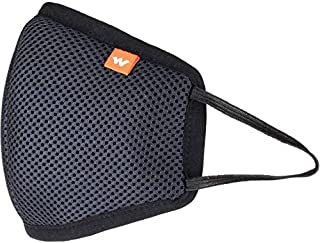 Wildcraft HypaShield Supermask reusable outdoor protection mask 12538 (Black, L Size,) (PACK OF 2)