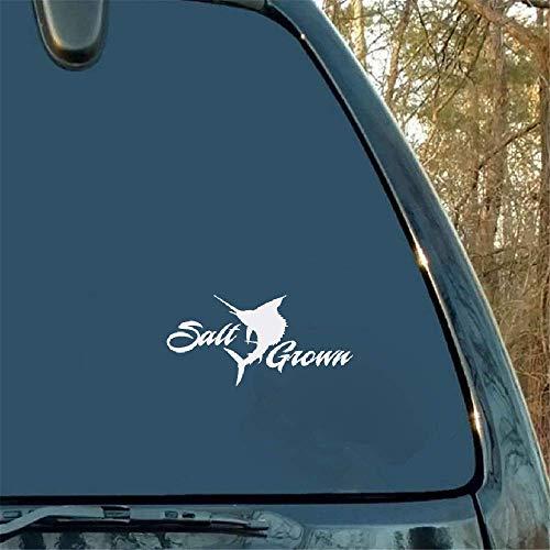 15.8Cmx7.7Cm Zout Grown Merk Zeevruchten Auto Sticker Window Decal Zoutwater Vissen voor Auto Laptop Window Sticker