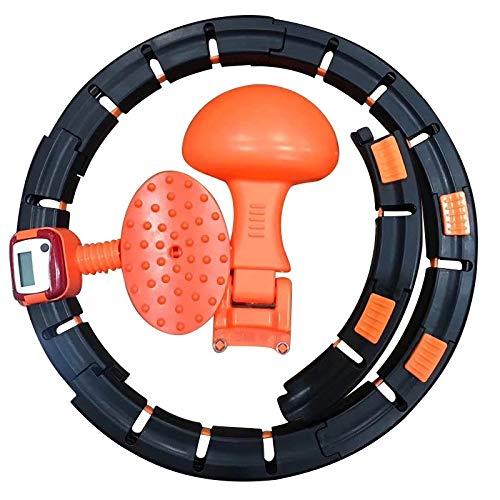 Olz Aros de Fitness para Bajar de Peso, Anillo de Cintura Delgada Inteligente con Giro automático, Ejercicio Inteligente con Peso Infinito, Ejercicio y Quema de Grasa
