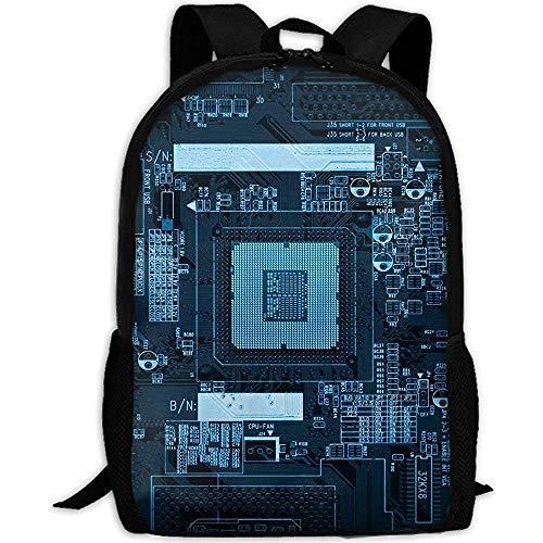 Unisex College Rucksäcke Büchertasche,Webb Rucksack Laptop Reise Wanderschule Umhängetaschen Leiterplatte Stilvolle Tagesrucksäcke