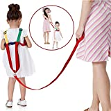 Suntapower Bimbi antifurto cintura,2 in 1 Imparare a camminare e 360° Manopola Imbracatura di Sicurezza per bambini, con corda antifurto(Giallo/verde)
