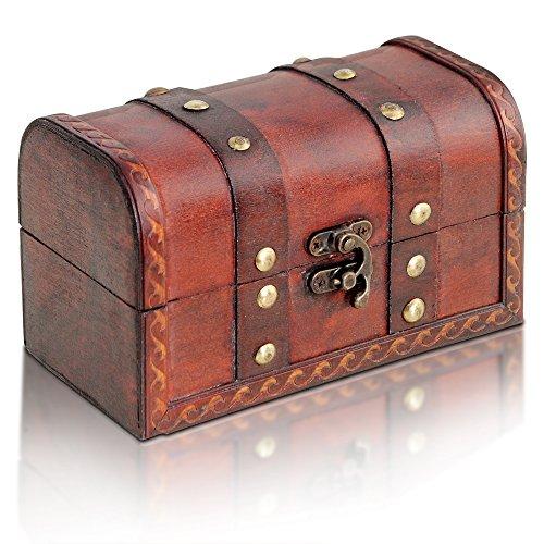 Brynnberg - Caja de almacenamiento de cofre del tesoro - 17x10x10cm