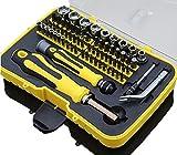 Joyeee 70-teiliges Mini Haushalts-Werkzeugkoffer Werkzeug-Set Handwerkzeug-Set Präzisions-Kit Schraubendreher Kit mit der Plastik-Aufbewahrungsbox - ideal für den Hausgebrauch und die...