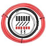 CTRICALVER Juego de cables de cambio de bicicleta y carcasa – Cable de cambio universal de bicicleta de repuesto para reparación de bicicleta MTB de carretera y bicicleta de montaña (rojo)