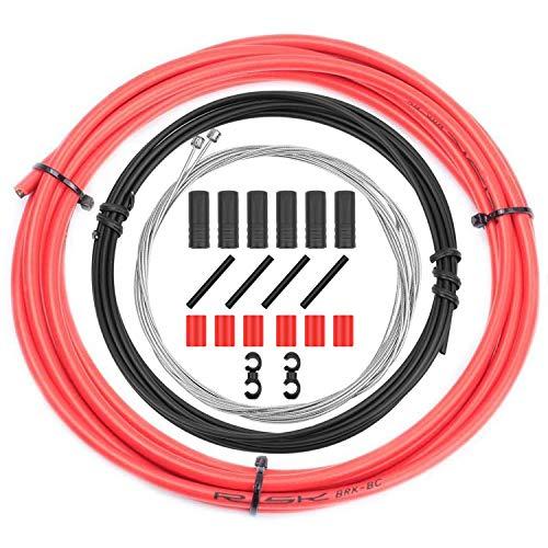 CTRICALVER Kit de cables y carcasa de cambio de bicicleta – Juego de piezas de repuesto de cable de palanca de cambios de bicicleta universal para ciclismo MTB Road Mountain Bike Reparación (rojo