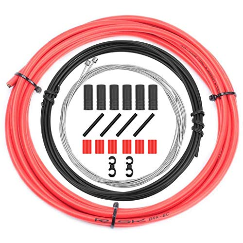 CTRICALVER - Cavi per cambio bici e kit di alloggiamento, universale, set di componenti di ricambio per bicicletta, MTB, mountain bike, riparazione (rosso