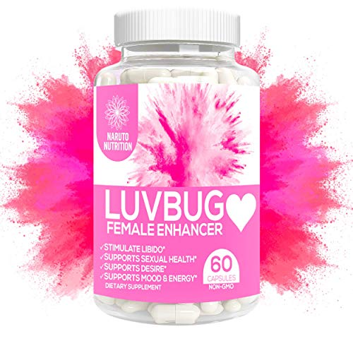 Luvbug Female Enhancement Pills – 10x Natural Mood Booster for Women - Increase Energy, Vitality, Reduce Dryness, Balance Hormones, PMS and Menopause Relief - 60 Caps