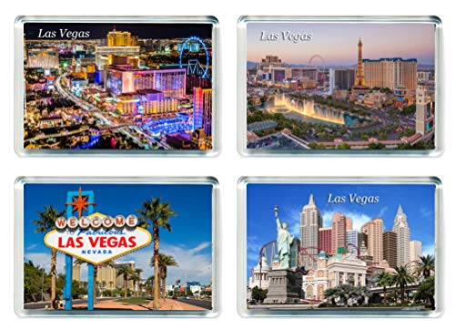 MGT US024 Set of 4 Las Vegas Jumbo Calamita da frigo USA America United States Travel Fridge Magnets
