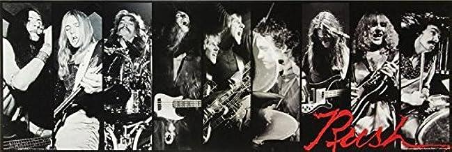 Rush - Black and White 36x12 Poster Music Art Print Band Group