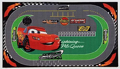 Viva Disney A.L. Cars Racing Rug, Synthetikfaser, Multicolored, 170 x 100 x 0.7 cm