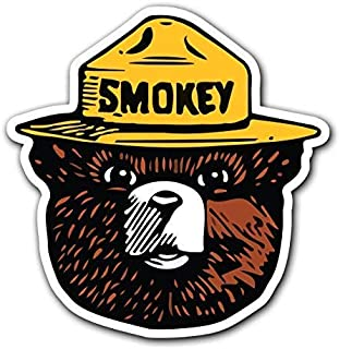 MFX Design Magnet Smokey The Bear - Firefighting Wildlife Decal Sticker for Car Truck (1 Pack) Magnet car Truck Magnetic Vinyl Sticks to Any Metal surface4.8 in x 4.9 in (12.3 cm x 12.6 cm)