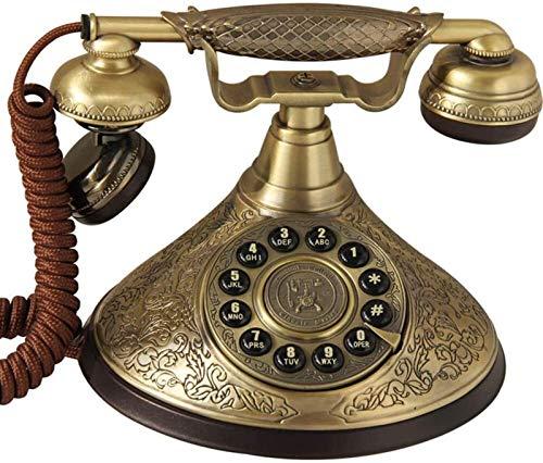 ZHANGNING Teléfono Fijo con Cable Teléfono con Cable Puede marcar un número presionando la línea Fija Rotary Dial Vintage en el Estilo Retro para el Hogar Office Hotel Teléfono Fijo Retro