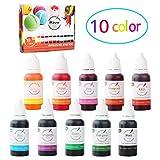 Wtrcsv Epoxidharz Farbe 150ml(10er×15ml), Seifenfarbe Set Seifenfarben Flüssig - Bio...