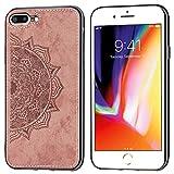 ZDCASE Coque pour iPhone 8 Plus, Mandala Motif Chiffon Tissu + Souple TPU Pare-Chocs Intégré...