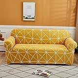WXQY Funda de sofá elástica con Estampado Floral Funda de sofá elástica elástica Funda de sofá de Esquina en Forma de L Funda de sofá Todo Incluido Antideslizante A7 3 plazas