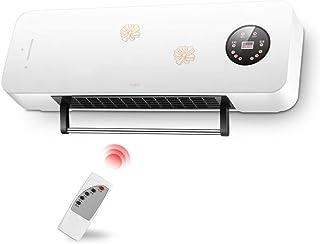 Radiador eléctrico MAHZONG Puerta Superior y más Baja de la Puerta eléctrica de Control Remoto 2000W calienta la Pantalla del Aire frío LED del Aire Caliente