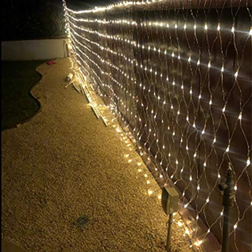 LEYOYO LED Net Lights Outdoor Mesh Lights, 8 Modes 200 Led 6.6ft x 9.8ft Christmas Net Lights for Bedroom, Christmas Trees, Bushes, Wedding, Garden, Outdoor Decorations (Warm White)
