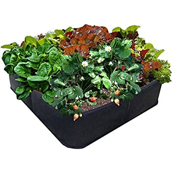"""Victory 8 Garden Fabric Pots Raised Bed 4 ft X 4 ft BIG SQUARE """"GROW YOUR OWN"""" No Assembly by Victory 8"""