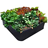 EZ-GRO GARDEN 3 ft X 3 ft Raised Bed MED SQUARE AeroFlow Proprietary Fabric 'GROW YOUR OWN' No Assembly by Victory 8