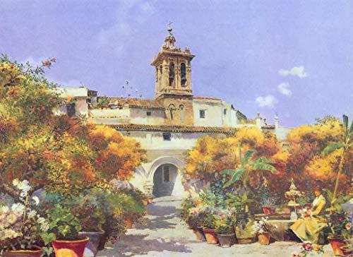 Digitaal schilderij knutselen gebouw bloempot tuin geschenken decoratie woonkamer olieverfschilderij creatief nonchalant handgeschilderd zonder lijst 40 x 50 cm