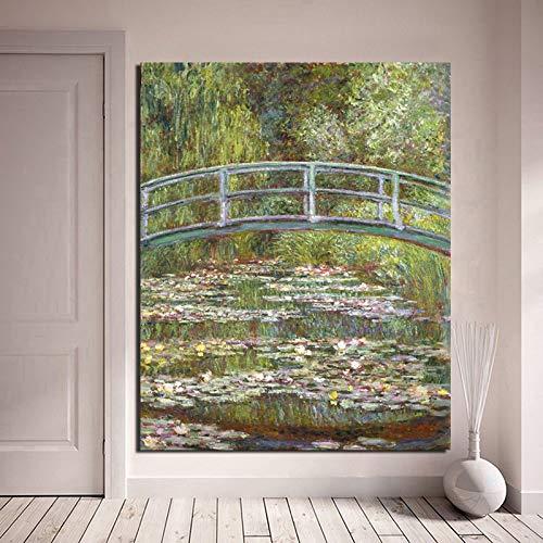 KWzEQ Berühmte Malerbrücke für Wohnzimmerdekoration Ölgemälde Leinwandmalerei Wandgemälde Moderne Wandmalerei Plakat,Rahmenlose Malerei,40x50cm