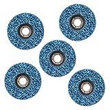 Disco abrasivo, disco azul óxido 5 piezas muela de eliminación de...
