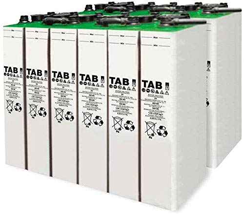 Baterías solar fotovoltaicos 6 unidad TAB 4 TOPzS 353-458AH 2V vida diseñada Mas de 15 años