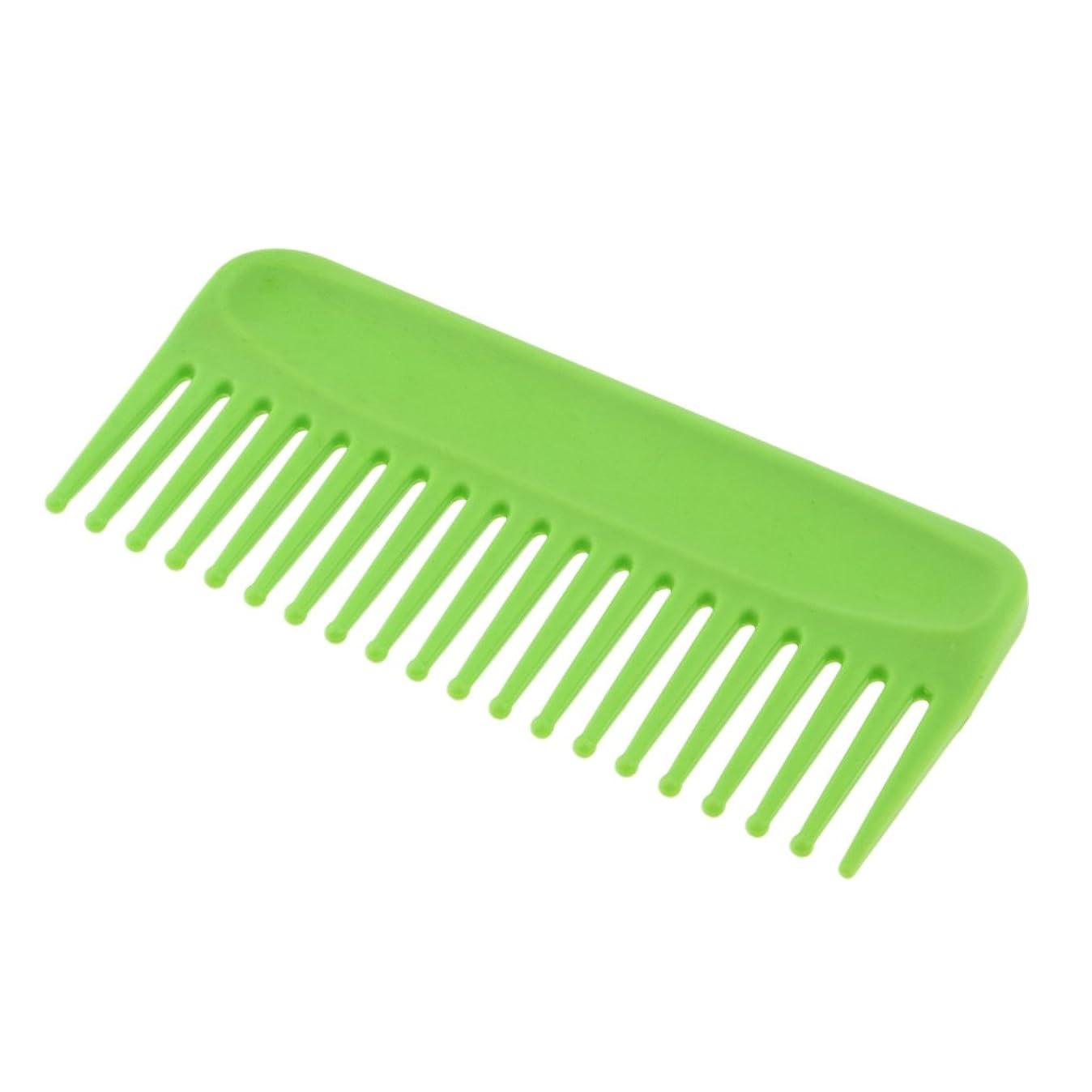 石油スムーズに白雪姫Baosity ヘアコーム コーム くし 頭皮 マッサージ 耐熱性 帯電防止 プラスチック性 ヘアスタイリング 4色選べる - 緑