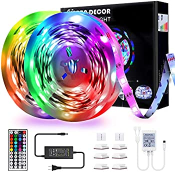 Yarra Decor 32.8ft. RGB Color Changing LED Strip Lights with Remote