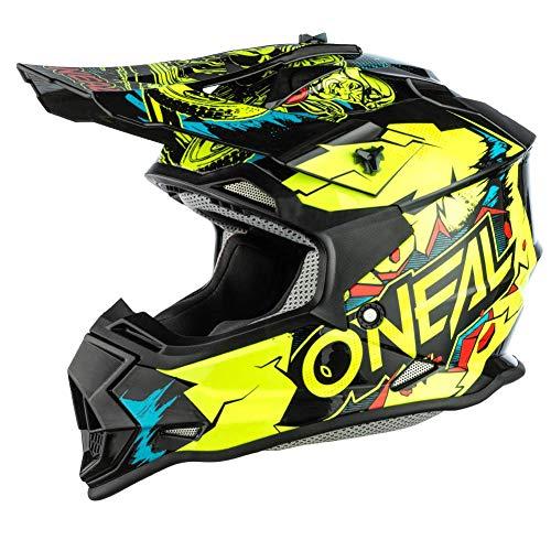 Oneal 2SRS Youth Helmet Villain Neon Yellow Casco