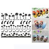 Dantazz selbstgemachte Verschönerung Nagelsticker Nagel Sticker Verschiedene Formen DIY Dekoration...