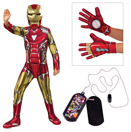 Marvel Avengers Child's Iron Man Costume Bundle, Large