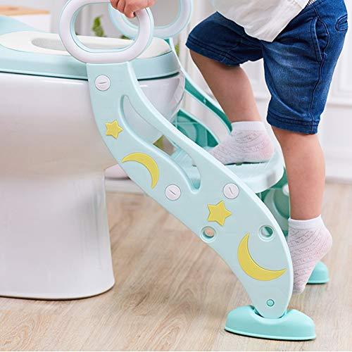 Reductor WC niños Aseo Asiento con Escalera, Escalera wc, 2 Escalones y...