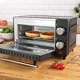 Quest 35409 Compact 9L Mini Oven / Temperature Controlled From 100-230° / 60 Minute Timer With Auto Shut Off / 650W / Tempered Glass Door / 22cm x 36cm x 29cm