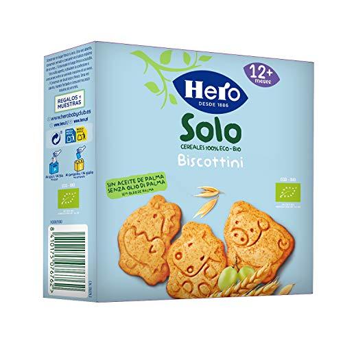 Hero Solo Biscottini Animaletti, 100% Biologico, Biscotti senza zuccheri aggiunti e senza olio di palma, dai 12 mesi in su - Cartone da 5 confezioni x 100 g
