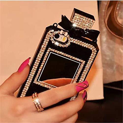 ZFLL screen protector hoesje voor Samsung Galaxy S10 S8 S9 Plus S7 S6 S10E Edge parfum fles telefoonhoesje voor Samsung Note 9 8 5 metselwerk handgemaakte Cover For Samsung S6 Edge Zwart