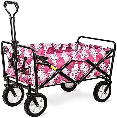 XQMY Garden Cart Trolley Foldable Pull Folding Trolley Trolley on Wheels Heavy Duty Hand Cart Outdoor Gardening
