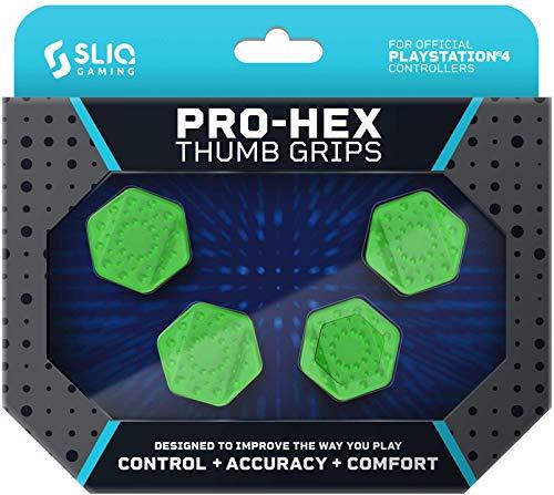 Sliq Gaming PS4 Pro-Hex Thumb Stick Grips – PlayStation 4 - Green