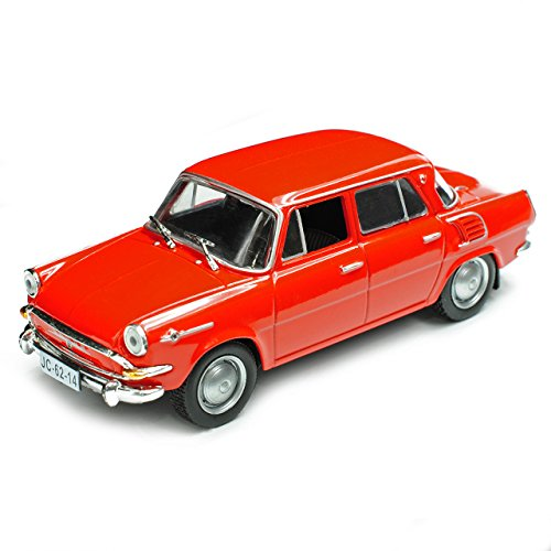 Unbekannt Skoda 1000MB Limousine Rot 1964-1969 1/43 Modellcarsonline Modell Auto