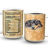 64HYDRO Dachshund Fact Inspiration Dachshund Lover Mug, Full Color Novelty Ceramic Coffee Mug - MDA0912006 - 11oz