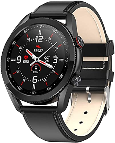 Reloj inteligente de llamada Bluetooth, pantalla táctil completa ip68 impermeable fitness tracker, reloj inteligente reproductor de música pulsera deportiva-A