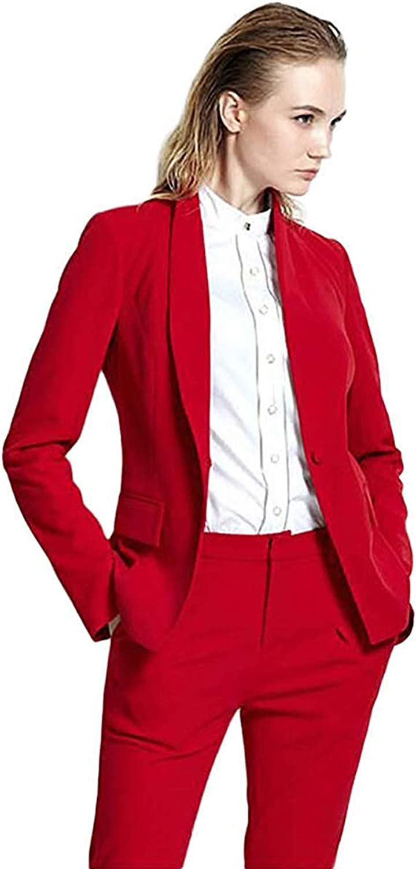 JYDress Women's 2 Pieces Suit Shawl Lapel Skinny Dress Suit Formal Business Office Lady