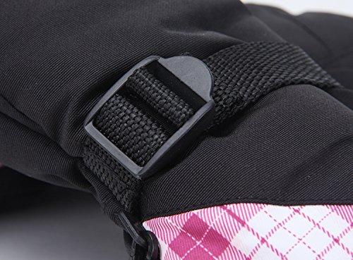 KINEED Skihandschuhe Damen Warm Winter Wasserdicht Snowboardhandschuhe Fahrrad Thermisch Thinsulate Handschuhe - 5