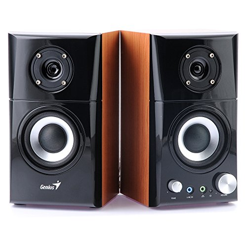 Genius HF-500A 2 Channel 14 W Powered Hi-Fi Stereo Speakers