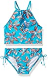 Kanu Surf Girls' Big Daisy Beach Sport Halter Tankini 2-Piece Swimsuit, Charlotte Floral Aqua, 14