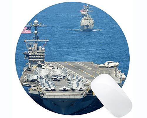 Yanteng Alfombrilla de ratón Redonda con Borde Cosido, USS